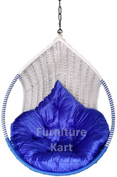 Furniture kart Swing Chair Coffee Royal Blue Steel Large Swing
