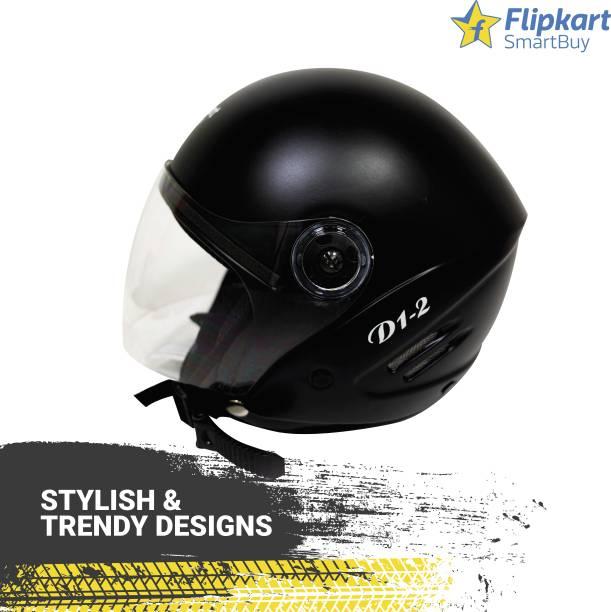 Flipkart SmartBuy D1-2 Open Face with Clear Visor Riding Motorsports Helmet