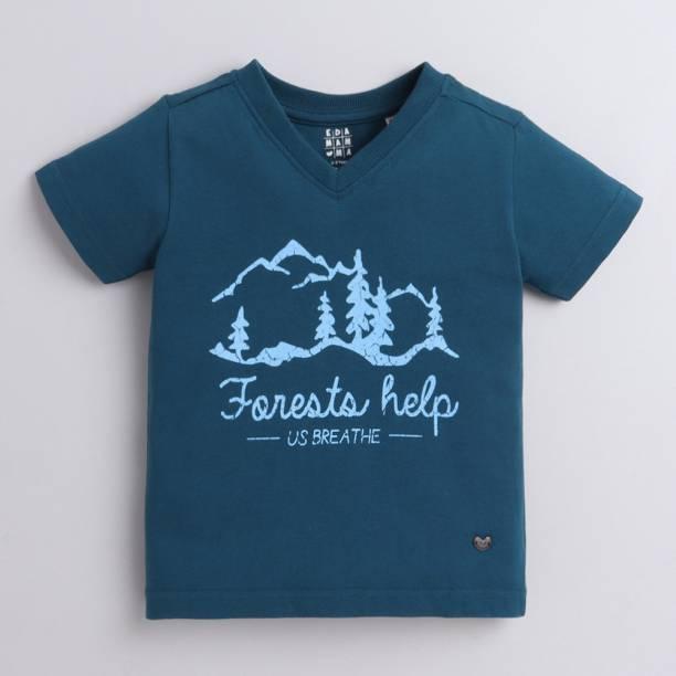 Ed-a-Mamma Boys Printed Pure Cotton T Shirt