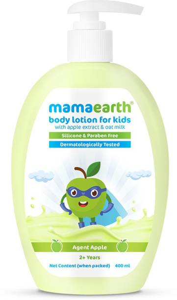 MamaEarth Agent Apple Body Lotion & Cream for Kids with Apple & Oat Milk 400 ml