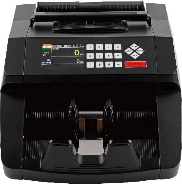 Stok Fully Automatic Mix Note Value Counting Machine (ST-VCM01) and Fake Note Detector with Color Sensor Detections + 3D Detections Note Counting Machine