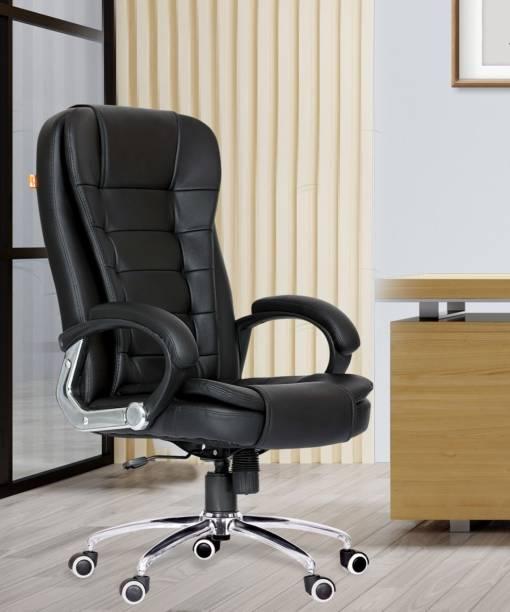 Da URBAN Bempton Black Leatherette Office Executive Chair