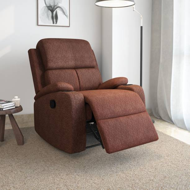 @Home by nilkamal Matt Fabric Manual Recliner