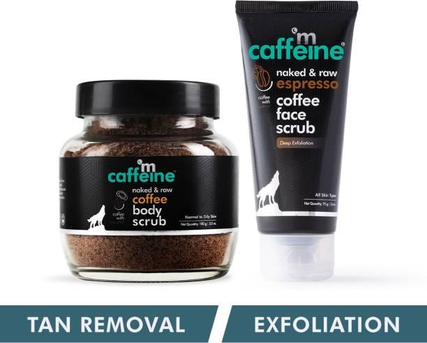 MCaffeine Face & Body Scrub Combo for Exfoliation & Tan Removal | Sulphate & Paraben Free| For Men & Women | 175 g Scrub