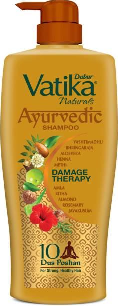 Dabur Vatika Naturals Ayurvedic Shampoo Damage Therapy