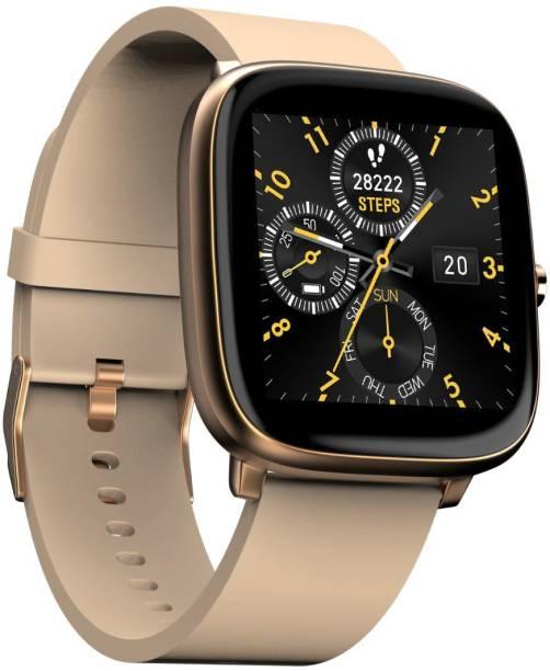 Noise ColorFit Qube SpO2 Beige Gold Smartwatch