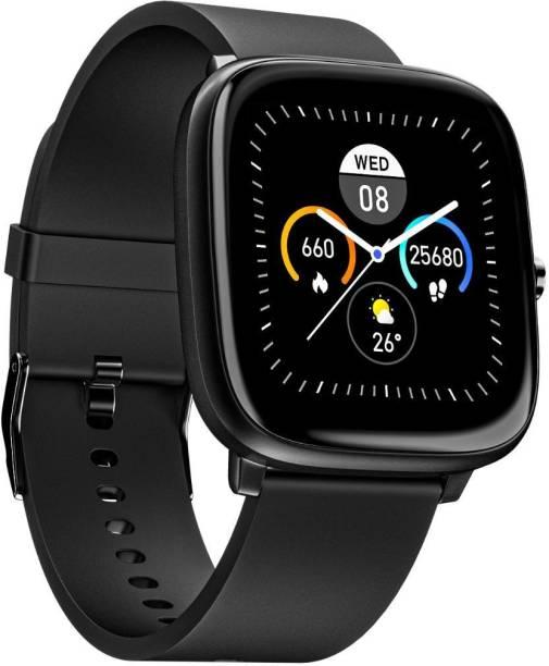 Noise ColorFit Qube SpO2 Charcoal Black Smartwatch