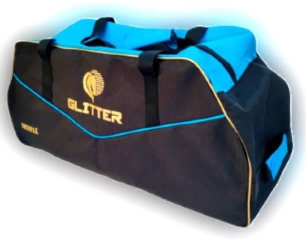 Glitter Cricket Kit Bag Pro with Pittho Style & Outside Special Bat Holder & Nylon Wheel