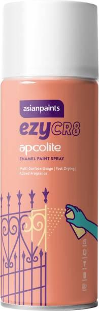 ASIAN PAINTS ezyCR8 Apcolite DIY Enamel Aerosol Paint Spray (White)-400 ml, White Spray Paint 400 ml