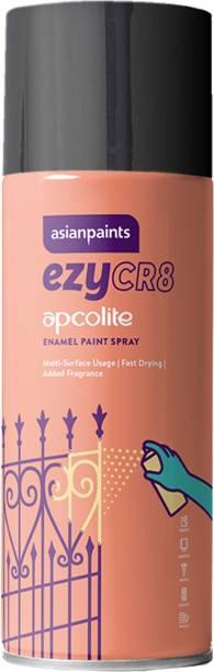 ASIAN PAINTS ezyCR8 Apcolite, DIY Aerosol Gloss Enamel Paint Spray, 200 ml - Black Black Spray Paint 200 ml