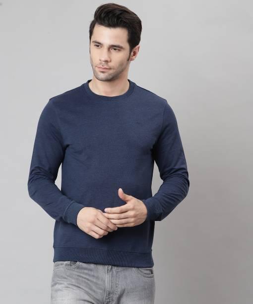 PARK AVENUE Full Sleeve Solid Men Sweatshirt