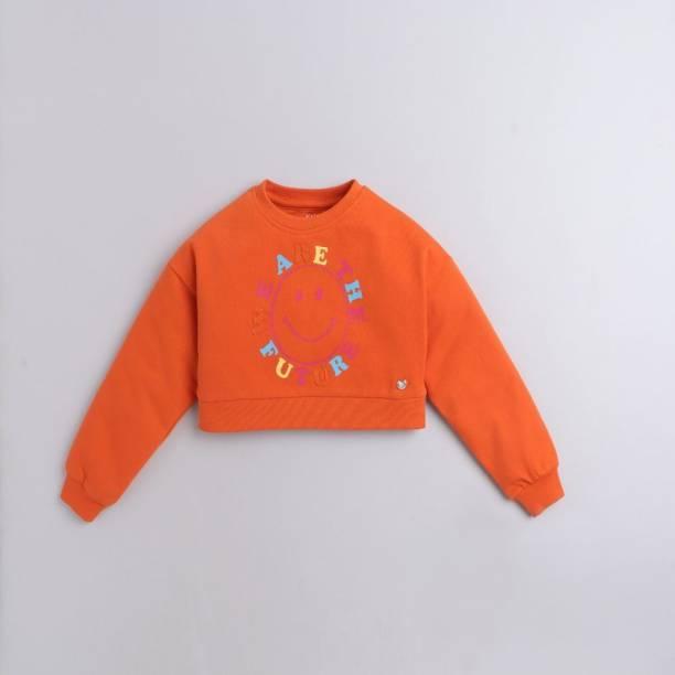 Ed-a-Mamma Full Sleeve Embroidered Girls Sweatshirt