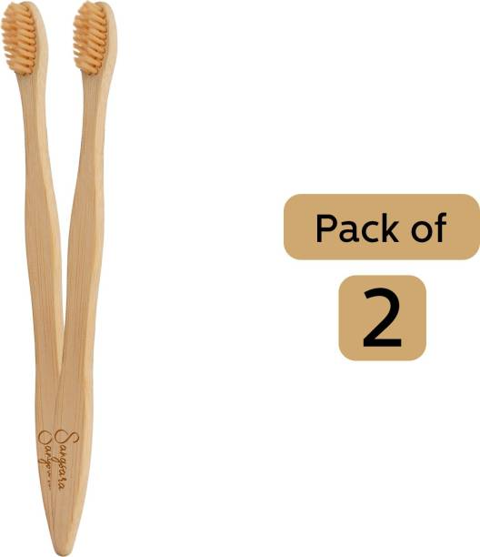 Sangsara By Dr. Odin Bamboo Toothbrush 100% Biodegradable Natural, Eco-Friendly, Compostable, Vegan & Reusable Bamboo Toothbrush Extra Soft Toothbrush