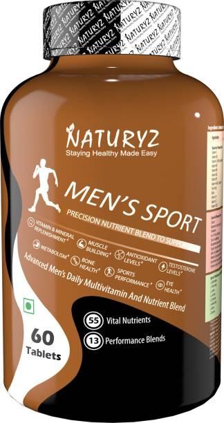 NATURYZ Men's Sport Multivitamin With 55 Vital Nutrients & 13 Performance Blends