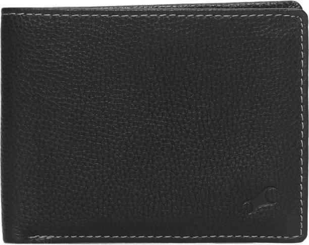 Fastrack Men Black, Grey Genuine Leather Wallet