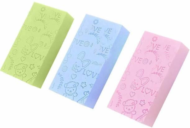 MPH ENTERPRISE Soft Exfoliating Sponge   Asian Bath Sponge For Shower   Japanese Spa Cellulite Massager   Dead Skin Remover Sponge For Body   Face Scrubber for Women and Men