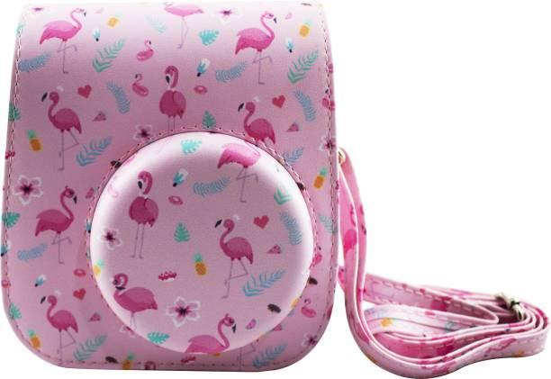 SHOPIZONE Protective PU Leather Camera Bag For Instax Mini 11 Camera Case Flamingo Pink  Camera Bag