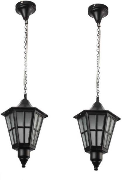 HomesElite Ceiling Hanging Light String Lamp Scones Wall Pendant Modern Stylish Classic look Lighting for Home Decoration Vintage Bedroom Living Dining Table Kitchen Balcony Hall Office Hotel Décor Interior Fixture (Pack of 2)(Bulb Not Included) Chandelier Ceiling Lamp