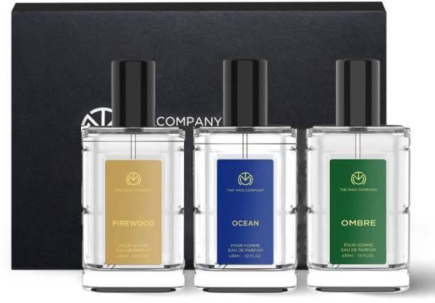 THE MAN COMPANY Luxury Perfume Set with Firewood, Ocean & Ombre for Men | Premium Luxury Long Lasting Fragrance | Premium Spray | Body Perfume for Men | No Gas Deodorant Perfume Body Spray  -  For Men & Women