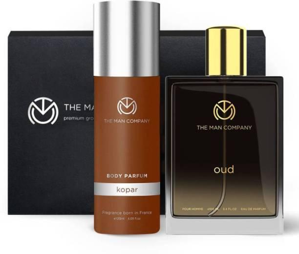 THE MAN COMPANY Luxury Perfume Set with Kopar, Oud for Men | Premium Luxury Long Lasting Fragrance | Premium Spray | Body Perfume for Men | No Gas Deodorant Perfume Body Spray  -  For Men