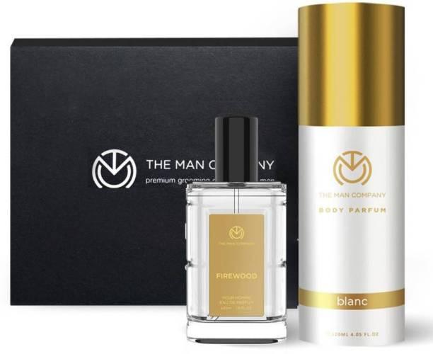 THE MAN COMPANY Luxury Perfume Set with Firewood, Blanc for Men | Premium Luxury Long Lasting Fragrance | Premium Spray | Body Perfume for Men | No Gas Deodorant Perfume Body Spray  -  For Men & Women