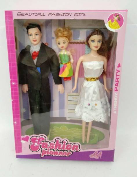 Just97 Couple Doll with Baby for Girl