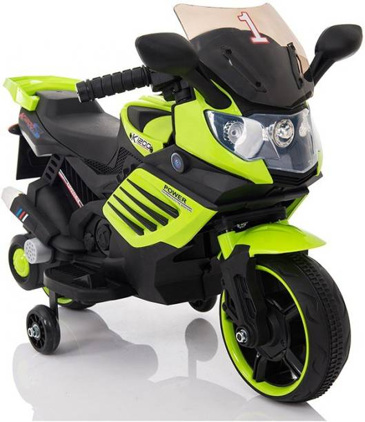 PP INFINITY Kids BMW Battery Operated Ride On Bike For Kids, Electric Bike For Kids With Foot Accelerator, Music and Light(1 To 4 Yrs) Bike Battery Operated Ride On