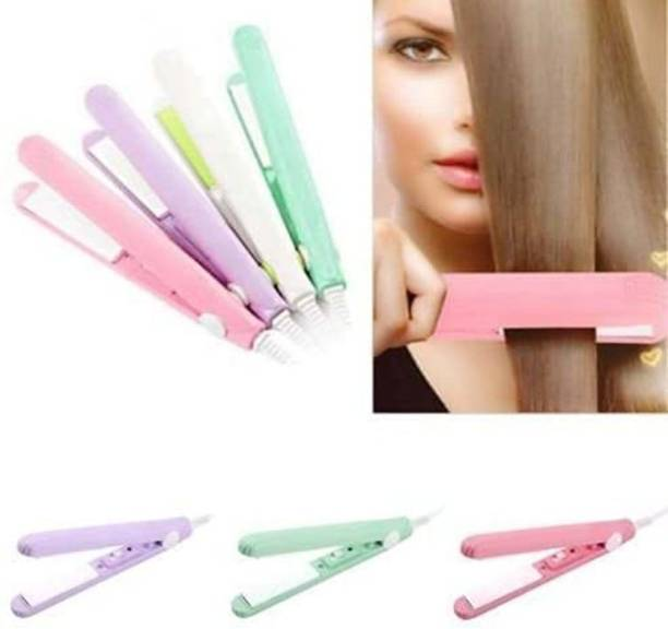 SHAVIRO Women Beauty Mini Professional Hair Straighteners Flat Iron Specially Designed for Teen (Multi Color) PACK OF 1 Hair Tattoo/Sticker