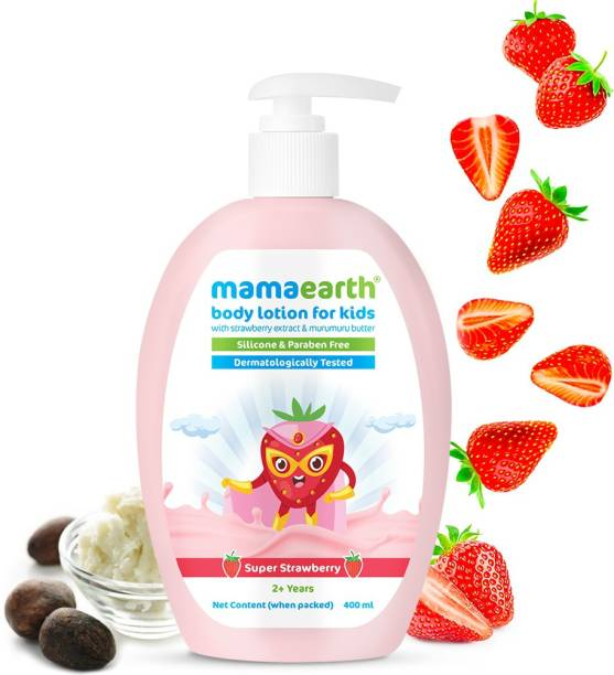 MamaEarth Super Strawberry Body Lotion & Cream for Kids with Strawberry & Shea Butter