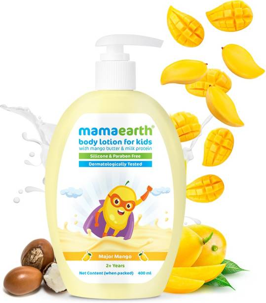 MamaEarth Major Mango Body Lotion & Cream For Kids with Mango Butter & Milk Protein