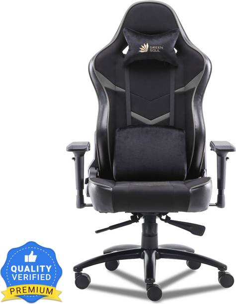GREEN SOUL Monster Ultimate (S) Multi-Functional Ergonomic Gaming Chair (GS-734US) (Black & Grey) (Large Size) Fabric Office Executive Chair