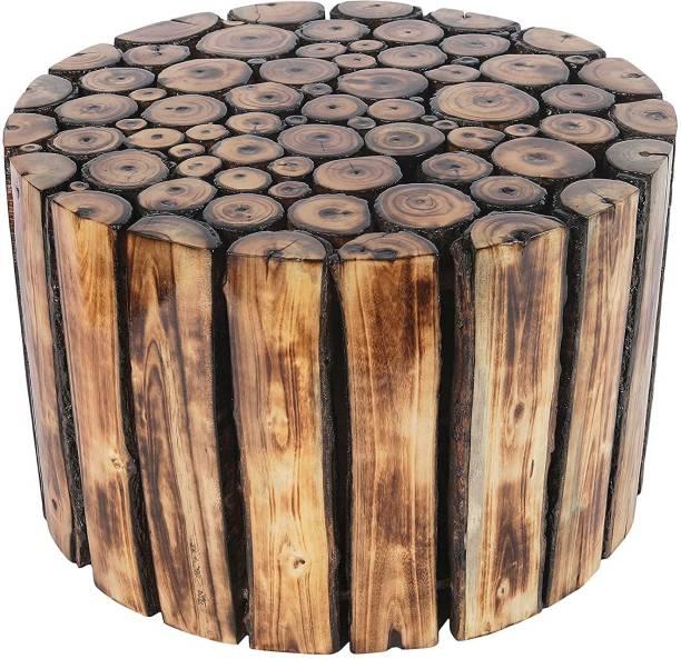 DIVINE DEKOR Solid Wood End Table