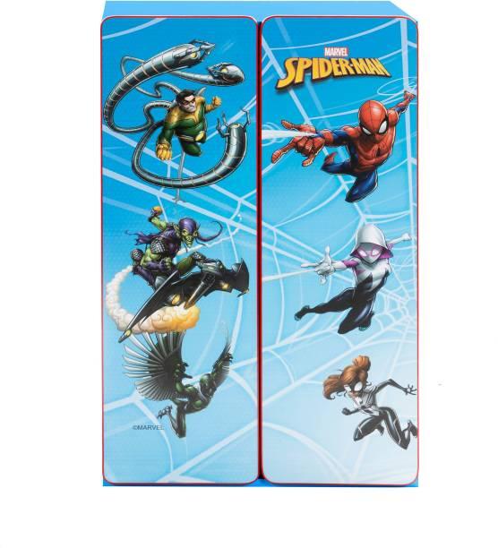 Yipi Spiderman Kids Multi Purpose Cupboard Engineered Wood 2 Door Wardrobe