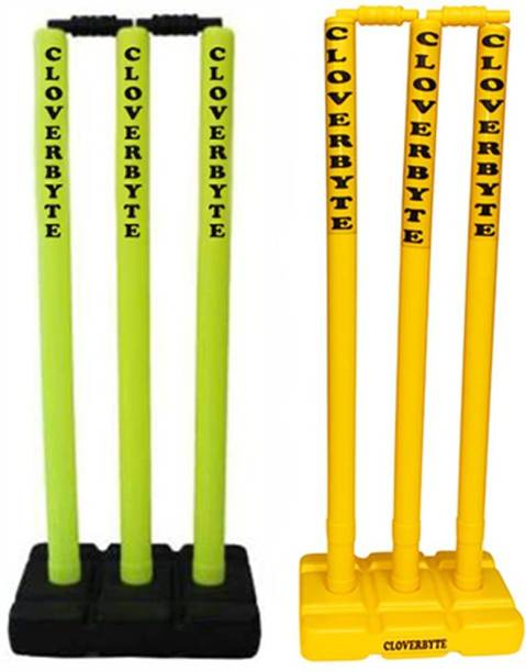 CLOVERBYTE Cricket Stumps 2 Set , Cricket Wicket , Plastic wickets, Cricket Plastic Stumps