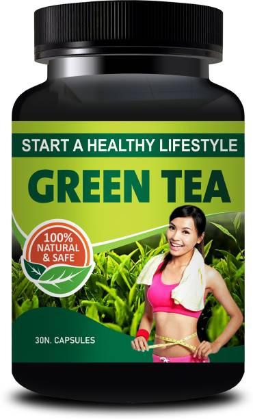 inlazer Green Tea Ayurvedic Capsules For Fat Burning and Improve Brain Function, Green Tea Increases Fat Burning and Improves Physical Performance, Compounds in Green Tea Can Improve Brain Function and Make You Smarter 100% Herbal
