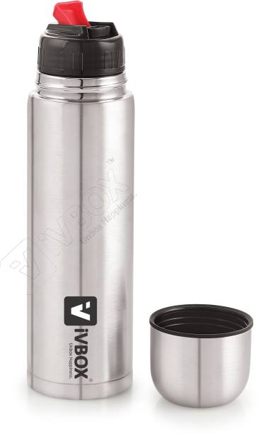 iVBOX ®Twistor Thermos Steel Push Button Lid Flask, 500 ml Hot & Cold 500 ml Flask