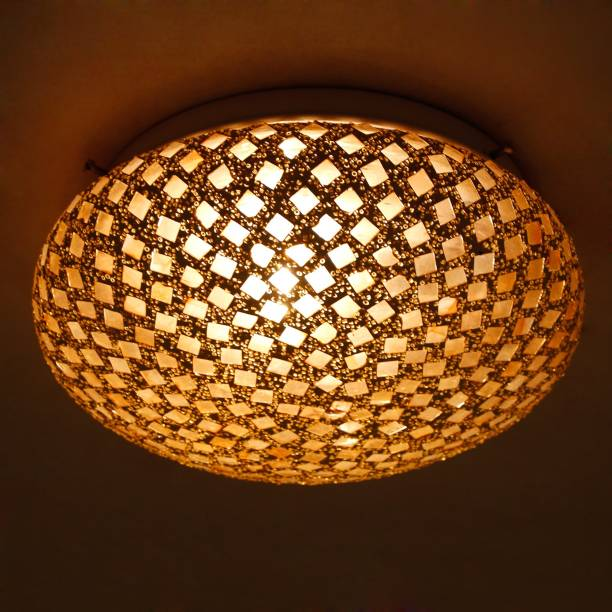 EarthenMetal earthenmetal glass mosaic decorative ceiling lamp, home decor (bulb not included) Flush Mount Ceiling Lamp