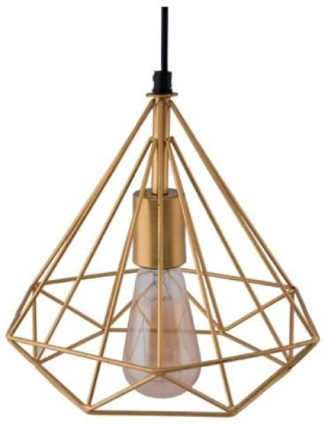 HomesElite Diamond Shape Hanging Cluster Pendant Ceiling Light for Room Decorative Lamp,Living Room,Bedroom,Hall Balcony Gold Color (Bulb Not Included) Chandelier Ceiling Lamp