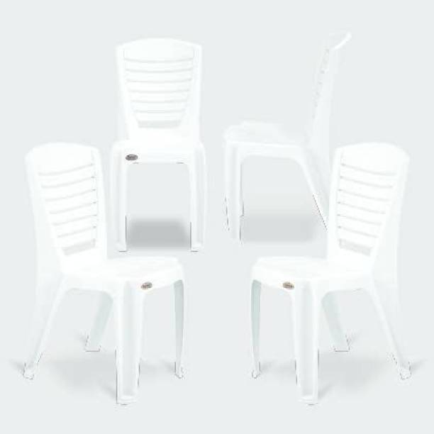 Binani Supreme Bliss Premium Armless Stackable Plastic Chair Plastic Dining Chair