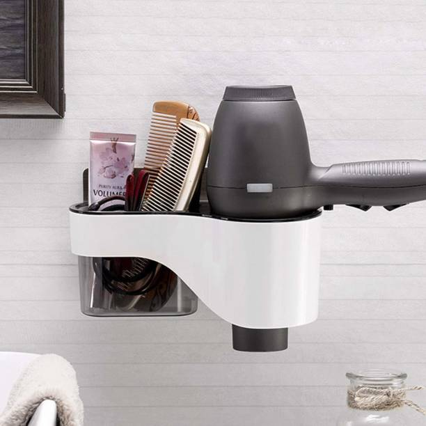 Gabani fashion Self-Adhesive Hair Dryer Stand Wall Mounted Dryer Holder Wall Mounted Dryer Holder