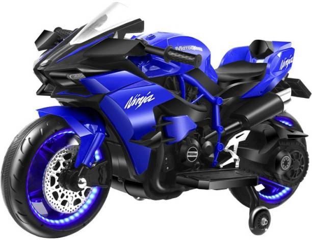 PP INFINITY Ninja H2R Sports Battery Operated Ride On Bike For Kids, Hand Accelerator With Music System Bike Battery Operated Ride On