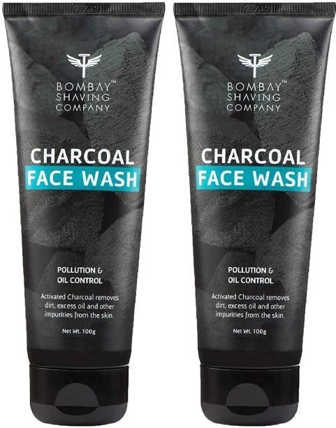BOMBAY SHAVING COMPANY Charcoal , Fights Pollution And Acne, Oil Control For Men - 2 x 100g (Value Pack of 2) Face Wash