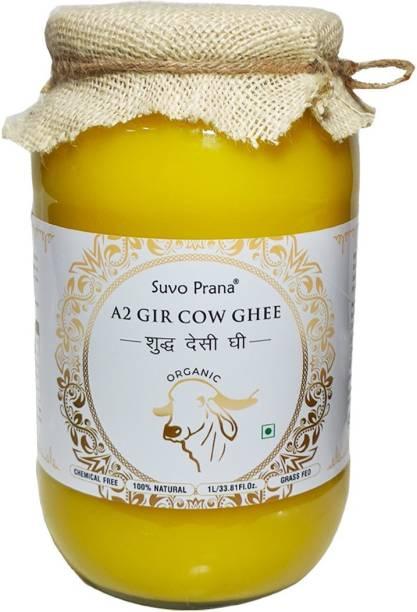 Suvo Prana Organic A2 Cow Ghee 1 L Glass Bottle