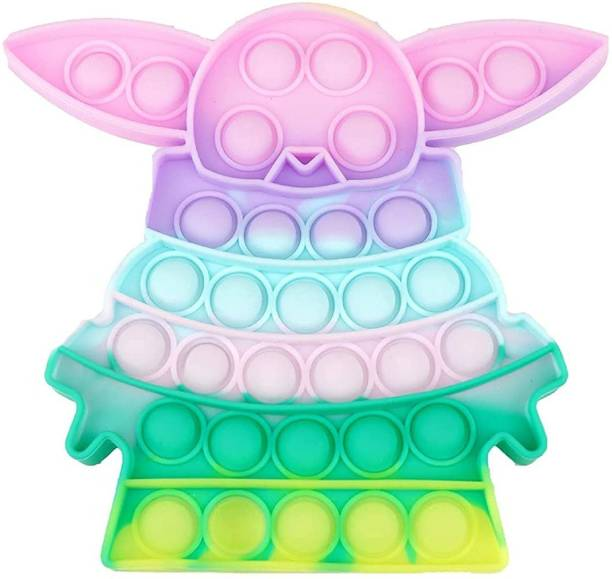 ILASARIYA Baby Yoda Stress Relief Toys tie-dye Fidget Toys, Push Bubble Gadgets, Can Reduce The Emotional Stress of Annoying Stress Relief Toys for Children and ush Pop it Bubble Fidget Toy, Stress Relief and Anti-Anxiety Tools Sensory Toy for Autism to Relieve Stress for Kids and Adults (Baby Yoda)