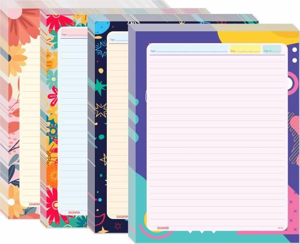 ESCAPER Designer Ruled A4 70 gsm Project Paper