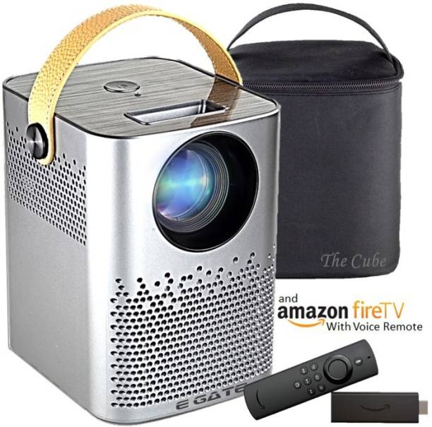 Egate C9 Cube HD + Amazon FTS (3300 lm / 1 Speaker / Wireless / Remote Controller) Portable Projector