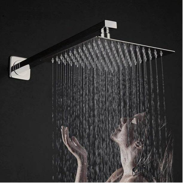 """AMJ 8X8 (8"""") Premium quality Stainless Steel UltraSlim Square Rain Shower Head with 15 inch square arm"""