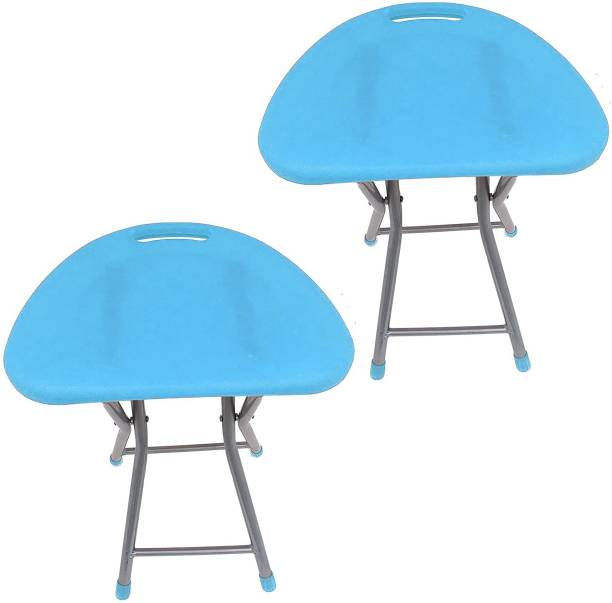 Branco Living Room Garden Office Folding Step Stool for Kids & Adults Set of Two- Blue- Outdoor & Cafeteria Stool