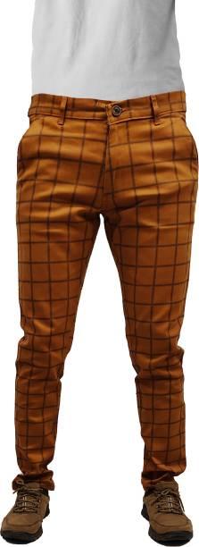 CEFALU Regular Fit Men Khaki Trousers