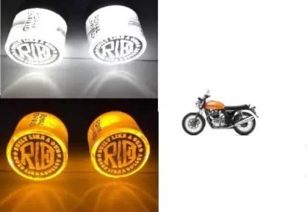 CHOKKAS Handle Light for Bullet Royal Enfield Indicator Light, Side Marker, Interior Light Motorbike LED for Royal Enfield (12 V, 24 W) (Classic 350, Classic 500, Pack of 2) Indicator Light, Parking Light Motorbike LED for Royal Enfield (9 V, 24 W)